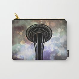 Space Needle - Seattle Stars and Clouds at Night Carry-All Pouch