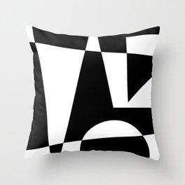 Black & White Abstract I Throw Pillow