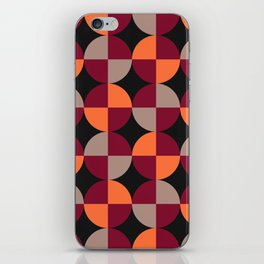 WineRed Squares iPhone Skin