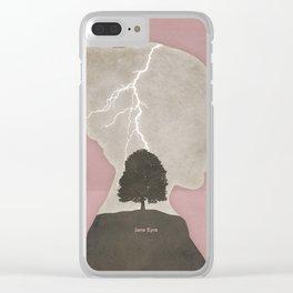 Charlotte Brontë Jane Eyre - Minimalist literary design Clear iPhone Case