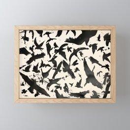 Bird in Flight, b/w Framed Mini Art Print