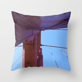 Looking Up, Walking the Golden Gate Throw Pillow