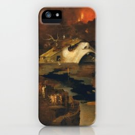 Descent Into Hell, Right Side, By Follower Of Hieronymus Bosch, Circa 1550 iPhone Case