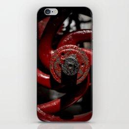 Red Valve iPhone Skin