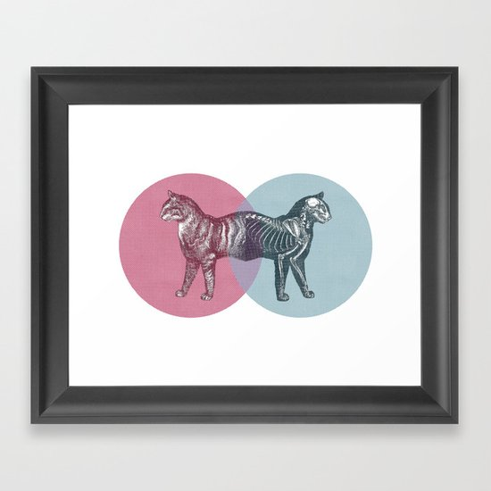 In which the cat is dead and alive Framed Art Print