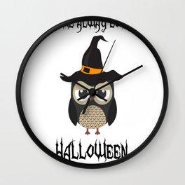 OWL LOVE HALLOWEEN Wall Clock