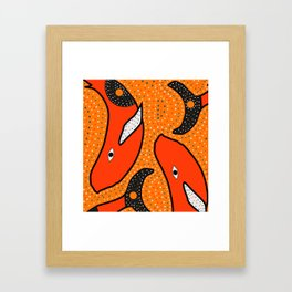 Whales - aboriginal Framed Art Print