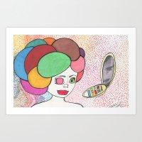 makeup Art Prints featuring Makeup by Sarah Kay Napier