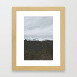 Mountains in Canada Framed Art Print