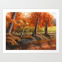 Forest in the Spirit of Red Art Print