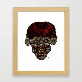 Heads of the Living Dead Zombies: Killer Zombie Framed Art Print