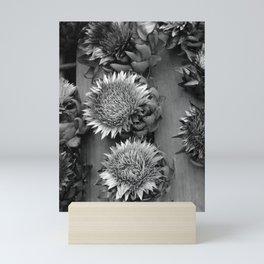 Artichokes, black-and-white photography Mini Art Print