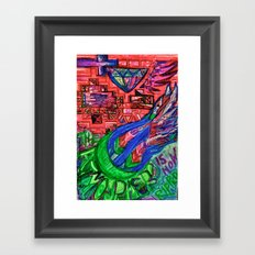 the atmosphere is now ripped Framed Art Print