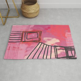 pinch me - abstract painting Rug