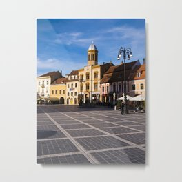 Council Square in Brasov Metal Print