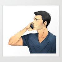 derek hale Art Prints featuring Derek by Autumnleaves