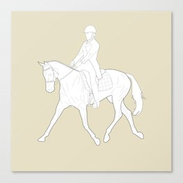 Dressage in Brown Canvas Print