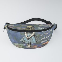 Water Lilies Magic - Alice In Wonderland Quote Fanny Pack