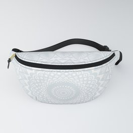 Minimal Minimalistic Light Cool Gray Mandala Fanny Pack