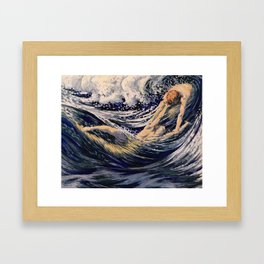 """""""Two fishes swimming in the sea not more lawless than we"""" Framed Art Print"""