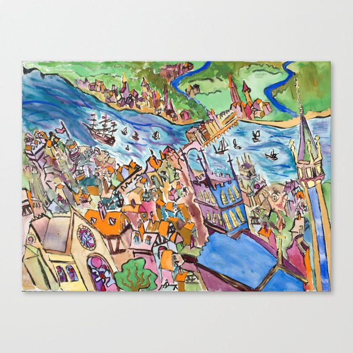 Medieval City Canvas Print