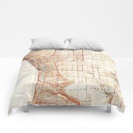 Vintage Map of Redondo Beach & Torrance CA (1934) Comforters