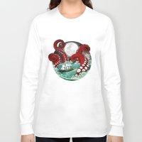 kraken Long Sleeve T-shirts featuring Kraken by Beth Naeyaert