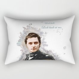 North and South - Richard Armirtage - Look back at me. Rectangular Pillow