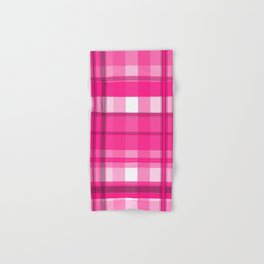 Shades of Pink and White Plaid Hand & Bath Towel