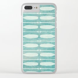 Vintage Coast Boat Paddles Clear iPhone Case