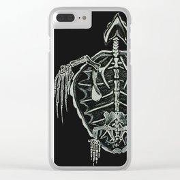 Turtle Skeleton Clear iPhone Case