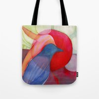kandinsky Tote Bags featuring Joy by Angella Meanix