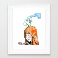 reading Framed Art Prints featuring Reading by Andrea Méndez