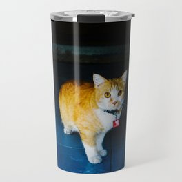 Cat in Ayutthaya Travel Mug