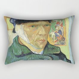 Self Portrait With Bandaged Ear Vincent van Gogh Rectangular Pillow