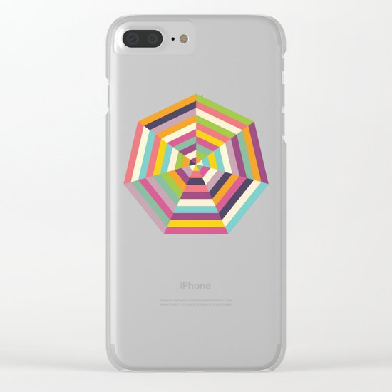 Heptagon Quilt 1 Clear iPhone Case