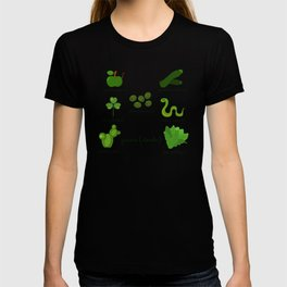 Colors: green (Los colores: verde) T-shirt
