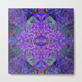 Density Portal Crystal Dimension Codes Metal Print