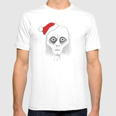 Tired Santa Mens Fitted Tee MEDIUM White
