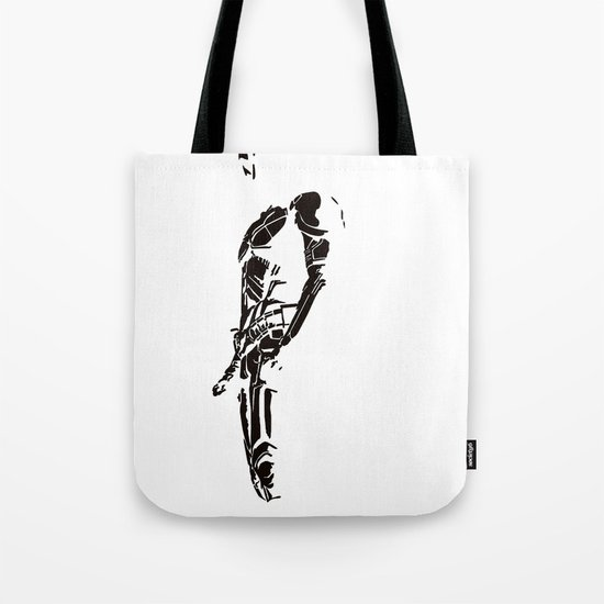 DARK KNIGHT ON WHITE Tote Bag