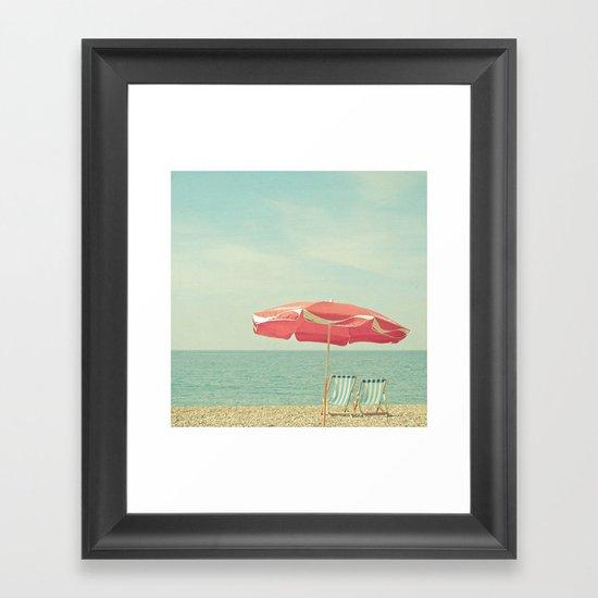Deserted Beach Framed Art Print