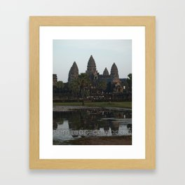 siem reap, cambodia Framed Art Print