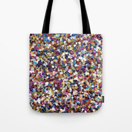 Colorful Rainbow Sequins Tote Bag