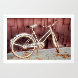 virtual bicycle Art Print