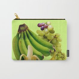 YELLOW-GREEN BANANAS GREEN GRAPES ART DESIGN Carry-All Pouch