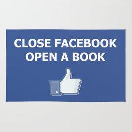 Close Facebook Open a Book Conceptual Art Thinking True Rug