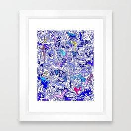 Kamasutra LOVE - Indigo Blue Framed Art Print