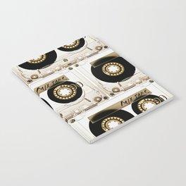 Retro classic vintage transparent mix cassette tape Notebook
