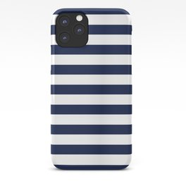 Nautical Navy Blue and White Stripes iPhone Case