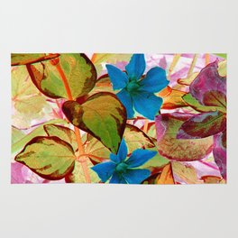 Blue Flower in the Fall - IA Rug